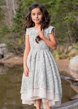 Joyfolie Jacqueline Dress Champagne (2T & 6)