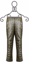 Joyfolie Juno Leggings Sequin Gunmetal (2T,5,6)