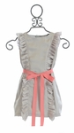 Joyfolie Lillia Girls Dress in Stone and Coral
