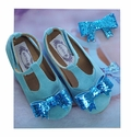 Joyfolie Little Girls Flats Isis Blue Shoes