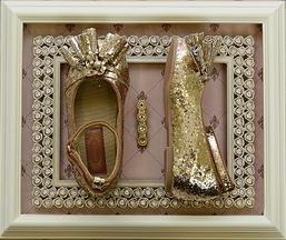Joyfolie Penelope Gold Flats for Girls