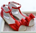 Joyfolie Red Holiday Shoes for Girls in Naomi