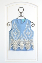 Kalliope Kids Denim and Lace Tank