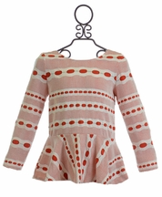 Kalliope Kids Girls Holiday Top in Red and White (Size 2T)