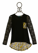 Kalliope Kids Hi Lo Tunic with Aztec Trim (Size 4T)