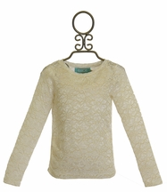 Kalliope Kids Lace Top in Gold and White (3T,4T,5/6,7/8)