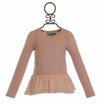 Kalliope Kids Peplum Girls Top in Pink (2T,3T,4T)