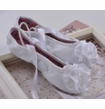 Kamara White Leather Ballet Slippers