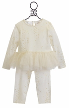 Kardashian Kids Gold Star Tutu Pant Set