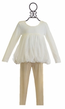 Kardashian Kids Ivory and Gold Pant Set