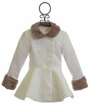Kardashian Kids Ivory Fancy Coat