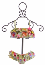 Kate Mack Baby Swim Bikini with Flowers (Size 18Mos)