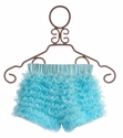 Kate Mack Blue Dipped in Daisies Ruffle Shorts for Girls