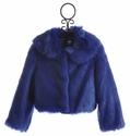 Kate Mack Blue Moon Girls Faux Fur Jacket