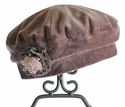 Kate Mack Brown Velour Girls Hat Swiss Mocha