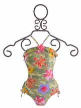 Kate Mack Camo Flower Swim Tank (Size 16)