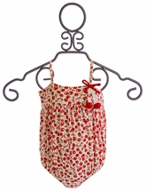 Kate Mack Cha Cha Cherry Baby Bubble Swimsuit (3Mos,6Mos,9Mos)