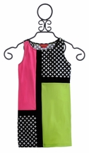 Kate Mack Color Block Girls Dress What is Hip (6X & 8)