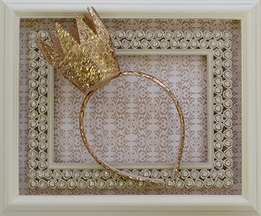 Kate Mack Crown Headband in Gold Glitter