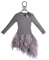 Kate Mack Designer Girls Holiday Dress Pink and Gray