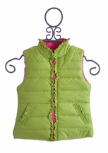 Kate Mack Designer Winter Vest for Girls Green