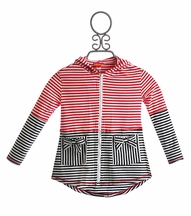 Kate Mack Eau So French Girls Hooded Coverup (2T,3T,4T,5,6)