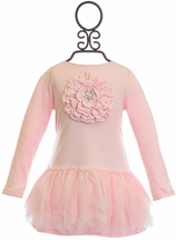 Kate Mack Flower Tutu Dress for Girls in Pink (18Mos,2T,3T,4T)