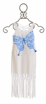Kate Mack Fringe Dress for Girls with Butterfly