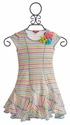 Kate Mack Garden Stripe Girls Dress