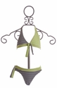 Kate Mack Girls Bikini Navy and Lime Stripes
