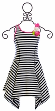 Kate Mack Girls Knit Dress with Stripes (4,5,6X,7,14)