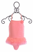 Kate Mack Girls One Piece Swimsuit with Tutu Skirt (9Mos,12Mos,24Mos)