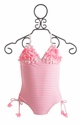 Kate Mack Girls Pink Striped Swimsuit