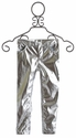 Kate Mack Girls Pleather Pant Silver Born Wild