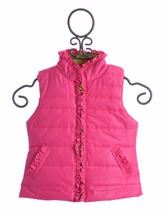 Kate Mack Girls Puffer Vest in Pink (4,5,6,10)