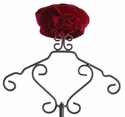 Kate Mack Girls Red Winter Hat with Flowers