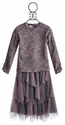 Kate Mack Girls Tee and Long Skirt in Lilac Lace