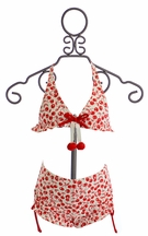 Kate Mack Girls Two Piece Swimsuit with Cherry Print (Size 8)