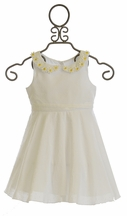 Kate Mack Girls White Daisy Chain Dress