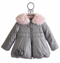 Kate Mack Girls Winter Coat Pretty Kitty