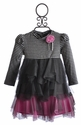 Kate Mack Gray Boho Ballerina Little Girls Dress