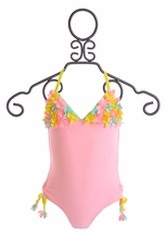 Kate Mack Halter Swim Tank for Girls Poolside Posies