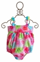 Kate Mack Hula Flowers Infant One Piece Suit Pink