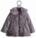 Kate Mack Lace Confections Purple Winter Coat