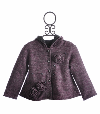 Kate Mack Lilac Fairy Hooded Sweater for Girls