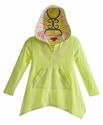 Kate Mack Lime Green Girls Hooded Coverup