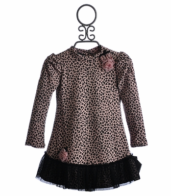 Kate Mack Little Girls Bow Dress On Safari Spots