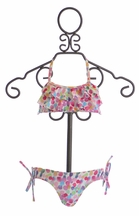 Kate Mack Little Girls Ruffle Halter Top Bikini