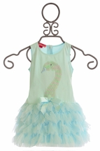 Kate Mack Little Girls Swan Lake Dress in Aqua (12Mos,18Mos,24Mos)