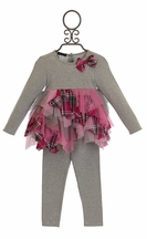 Kate Mack Material Girl Infant and Toddler Outfit (12Mos,18Mos,3T,4T)